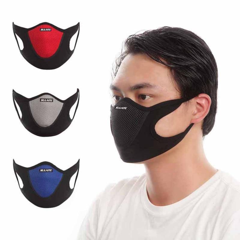 2020 Face Mask Dustproof Windproof Motorcycle Neck Warm Veil Outdoor Black Red Masks