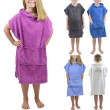 Новые зимние фланелевые халаты с капюшоном для маленьких мальчиков и девочек, банный халат, Ночная одежда для сна, roupa infantil, детская одежда
