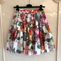 Women Skirts Summer A Line Mini Skirts 2020 New Style Brand Floral Print Short Skirt For Ladies