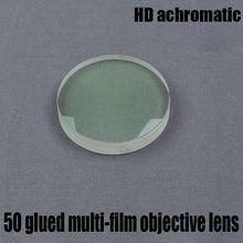 Astronomical Telescope DIY Accessories Refraction Objective Lens HD Achromatic Diameter 50 Focal Length 182 Glued Green Film
