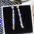 Exknl 2020 Neue Mode Ankunft Kristall Klassische Geometrische Lange Baumeln Ohrringe Für Frau Weibliche Schmuck Koreanische Einfache Ohrringe