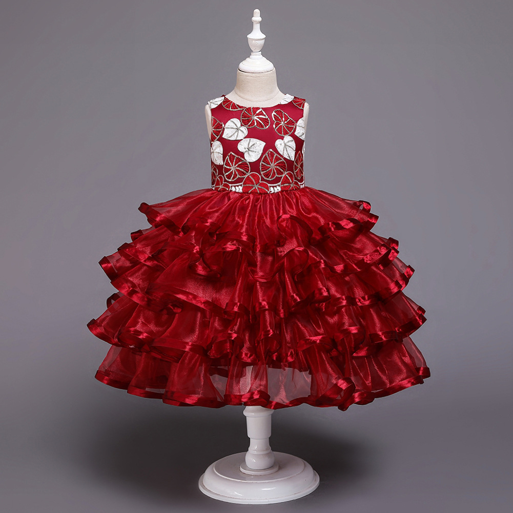 Cross Border New Style Girls Dress Princess Dress Europe And America Christmas Tutu Women's Children Dress