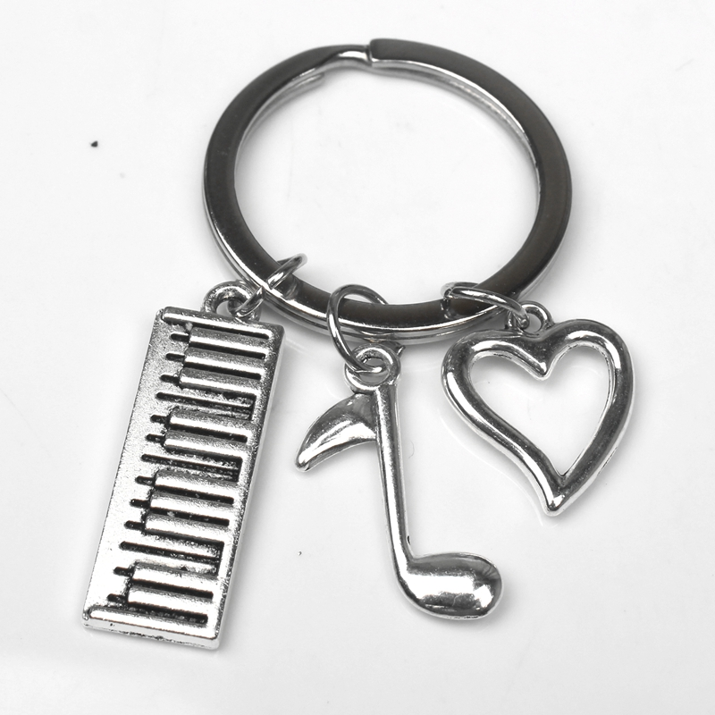 New Keychain Keyboard, Piano, Musical Notes, Keychain Pendant DIY Men's Car Keychain Commemorative Jewelry Gifts