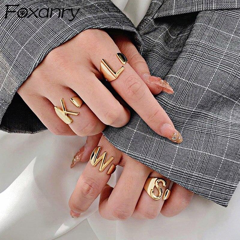 Женские винтажные кольца Foxanry INS из стерлингового серебра 925 пробы, простые и необычные геометрические вечерние ювелирные изделия из тайско...