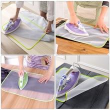 Высокотемпературная тканевая сетка для гладильной доски коврик для одежды Защитный Теплоизоляционный прижимной коврик гладильная ткань цвет случайный