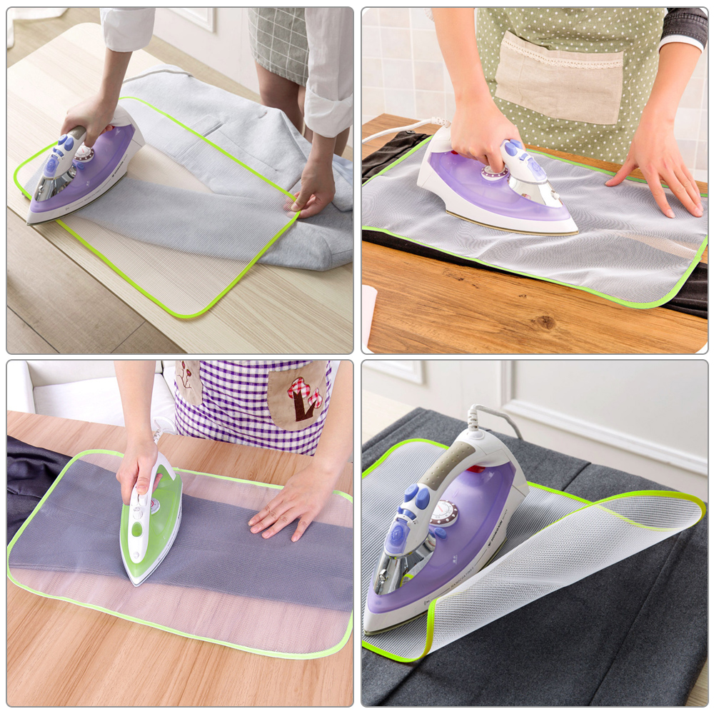 High Temperature Cloth Mesh Ironing Board Pad Clothes Cover Protective Heat Insulation Pressure Pad Ironing Cloth Color Random