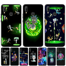 Rick and Morty Pattern Black Silicone Soft Case For Huawei Mate 20 10 P30 P20 Pro P10