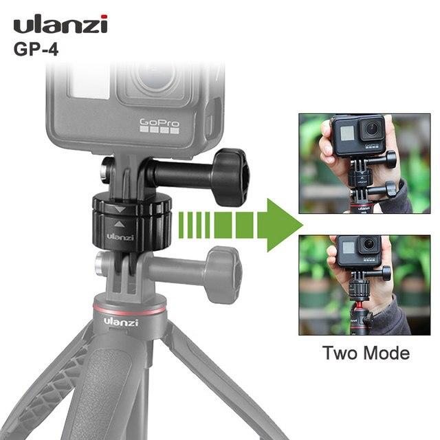 Ulanzi GP 4 Universal Gopro Quick Release Mount Adapter Gopro Zubehör Schnelle Installation