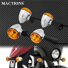 Motorcycle Front Rear Turn Signal Light Case LED Indicator Amber Lamp Metal For Indian Scout sixty BOBBER 2014 2019 2018 2017