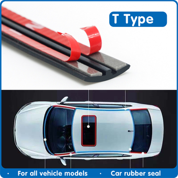 Car Door Seal Rubber Windshield Sealant Protector Strip Auto Roof Sound Insulation Window Seals For Accessories