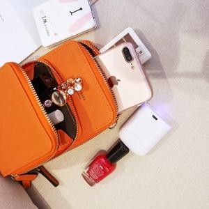 Image 2 - Cartera cruzada para teléfono móvil pequeño para mujer, Mini bolsos de piel ligera, bolsa para teléfono móvil con correa, ranuras para tarjetas