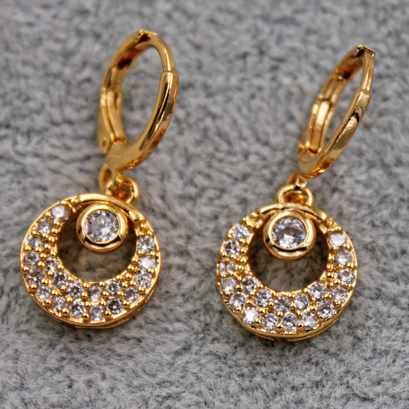 Hf37b741c06254bb3b174b7a58e116693N - Trendy Vintage Drop Earrings For Women Gold Filled  Red Green Pink Lavender Zircon Earrings Gold  Earring Wedding  Jewelry