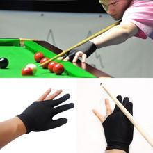 2 Pcs Black Elastic Nylon 3 Finger Gloves Pool Billiards Game Cue Wrist Glove  Billiard Three-finger High-elastic