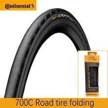 Continental-neumático plegable para bicicleta de carretera GrandSport Race y GrandSport Extra & UltraSport II, 700x23C 700x25C
