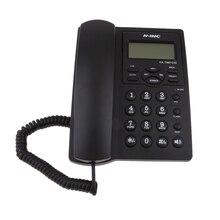 Teléfono fijo, teléfono de escritorio con cable, pantalla de identificación de llamadas/Volumen ajustable para el hogar/Oficina negro