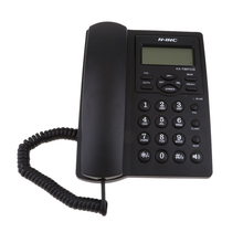 Vaste Telefoon, Snoer Desktop Telefoon, Caller Id Display/Volume Verstelbare Voor Home/Office Black