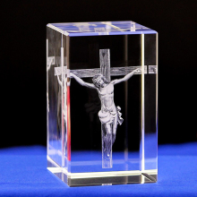 Иисус с украшением в виде кристаллов Иисус католический статуя фигурки внутренняя гравер Иисус-пастырь христианской ремесленные украшения для дома Рождественский подарок