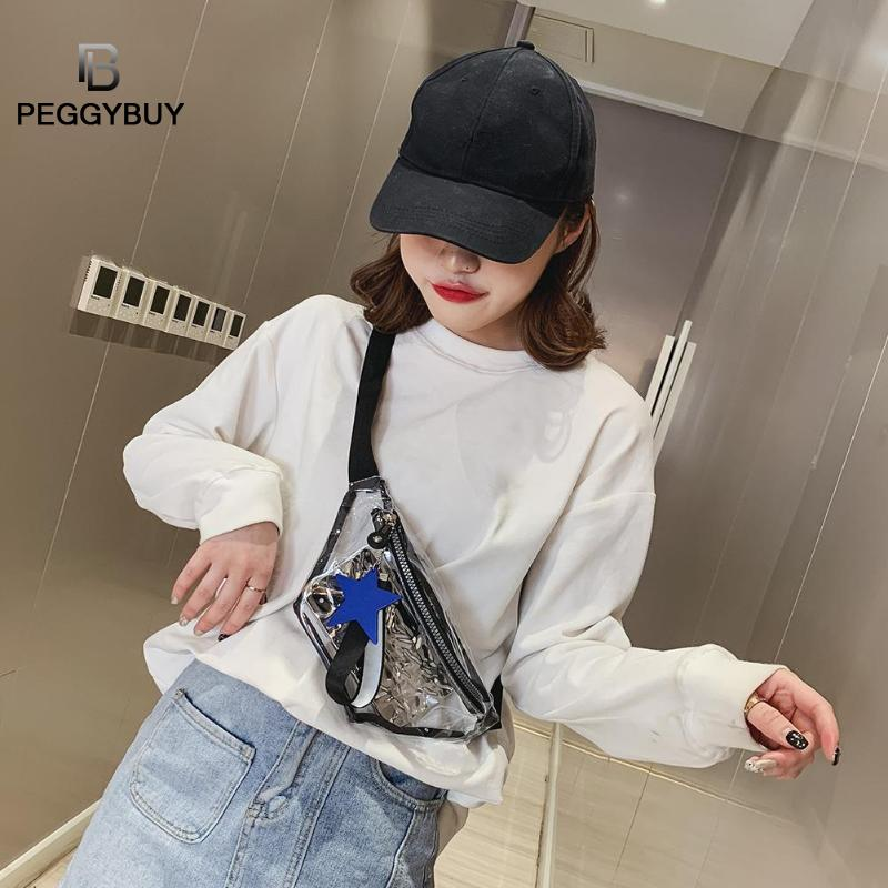Clear PVC Transparent Fanny Pack For Women Sturdy Waist Bag Girls Crossbody PVC Shoulder Bags Messenger Bags Bolsa Femenina New