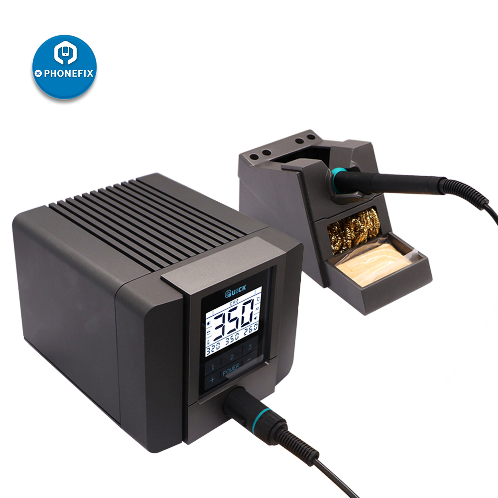 QUICK TS1200A Lead Free BGA Soldering Station LED Display with One Soldering  Iron Tip for Phone Motherboard Soldering Repair