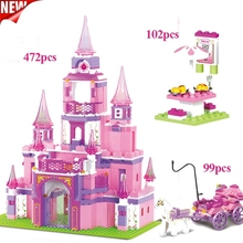 Princess Series Big Garden Villa Castle Palace Models Building Block Model Compatible High-tech Playmobil Toy For Girl Gift