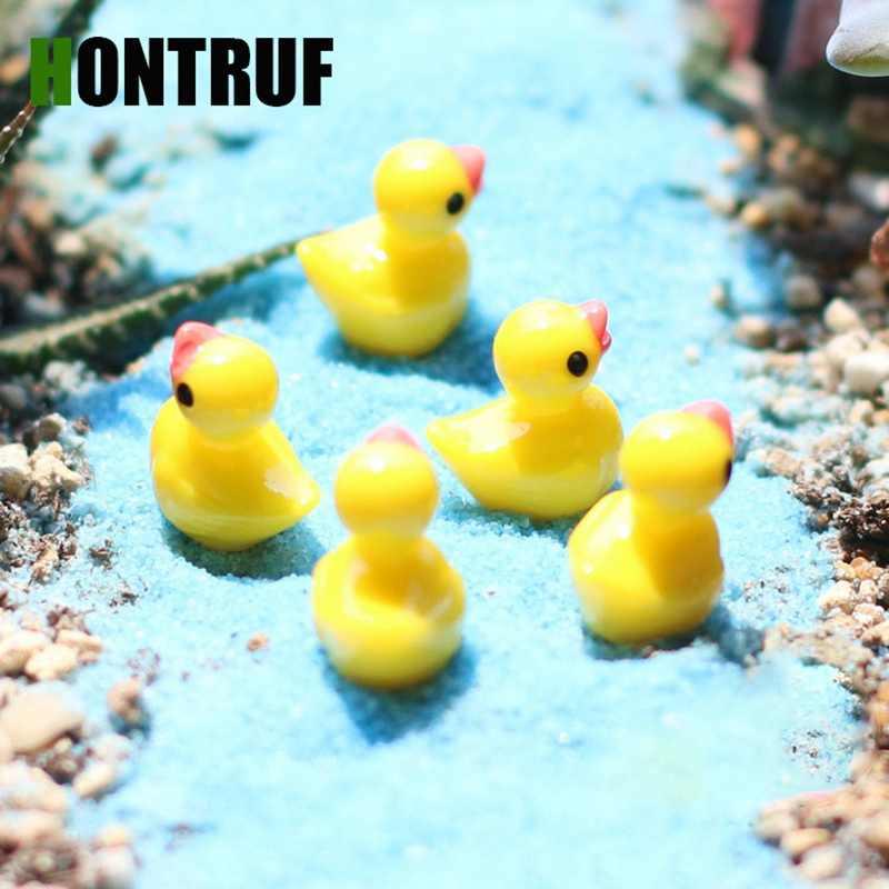 DIY Moss Micro Landscape Ornament Mini Cute Little Yellow Duck Resin Crafts Aquarium Aquarium Aquarium Decoration