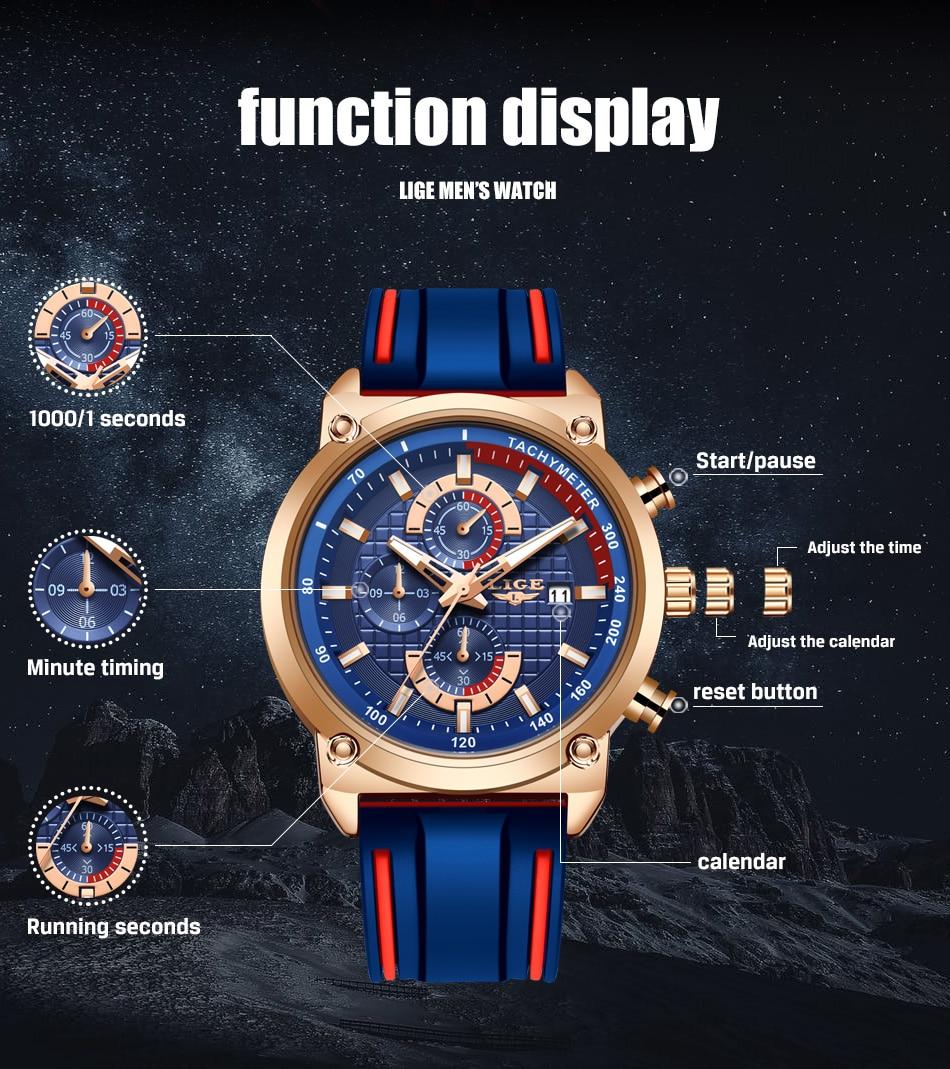 Hf37c238660694b7aa5338bb3cf09fdabS New Top Fashion Chronograph Quartz Men Watches LIGE Silicone Strap Date Wristwatch Clock Male Luminous Watch Relogio Masculino