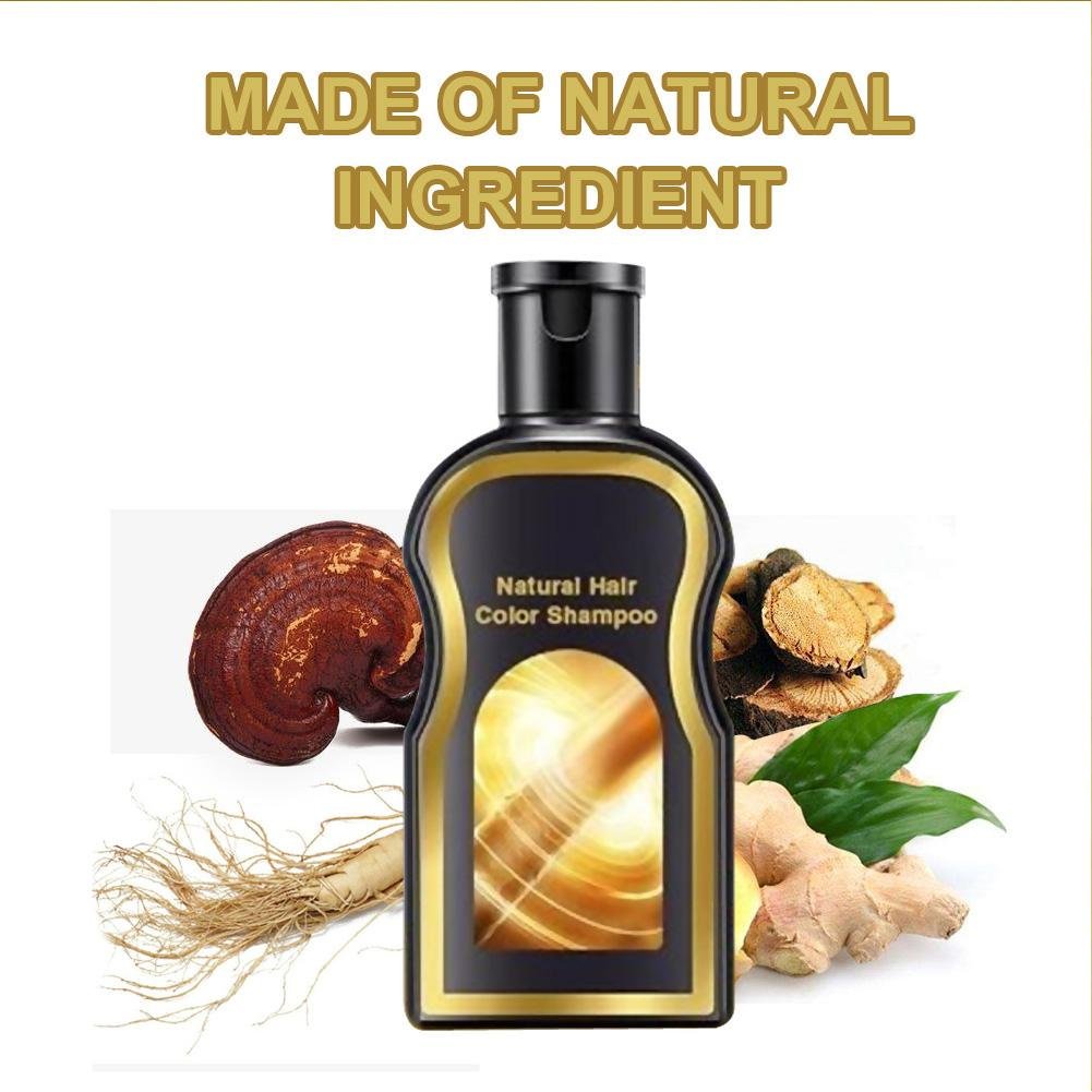 Grey Reverse Hair Color Shampoo Darkening Shampoo Anti-dandruff Shampoo Nourishing Black Hair Repair Damaged Dry Hair 200ML