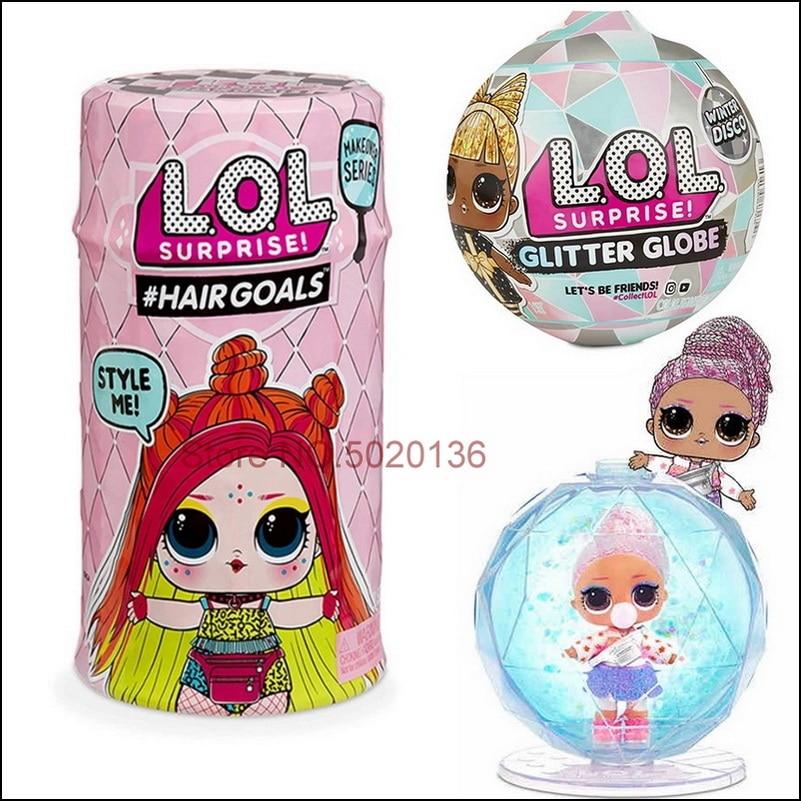 Surprise animaux fille LOLS poupées paillettes cheveux Globe oeuf bébé hiver Disco série balle aveugle boîte jouets pour enfants cadeau de noël