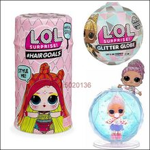 Surprise Pets Girl LOLS Dolls Glitter Hair Globe Egg Baby Winter Disco Series Ball Blind Box Toys For Children Christmas Gift