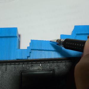 Image 4 - 5/6/10 אינץ מד פלסטיק פרופיל עותק מד סדיר מעצב פרופיל שליט מד מעתק מד Contour כללי כלים