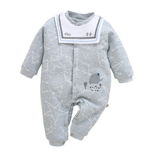 Unisex Baby Romper Jumpsuit Cotton Print Three Quarter Casual Style Single Breasted O-Neck Comfortable Wear Baby Romper Jumpsuit цена 2017