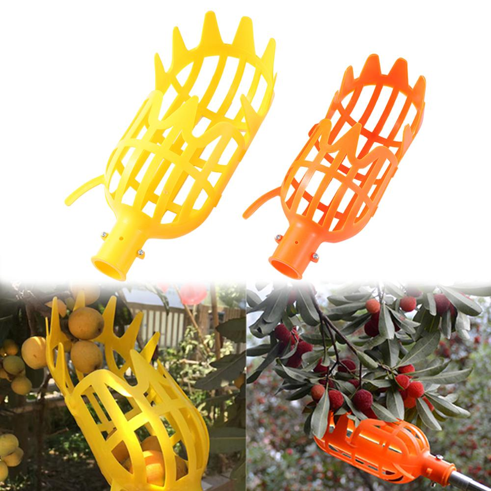 2 Pcs Plastic High-altitude Fruit Picker Bayberry Harvester Picking Device No Need Ladder Wheat Field Fruits Picking Tools