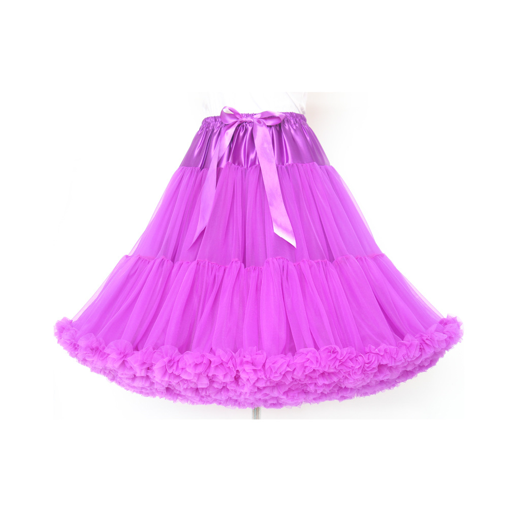 New Arrival 2020 Extra Long Women Skirt More Color Tulle Puffy Pink  Wedding Bridal Petticoat Fashion Unerskirt Tutu