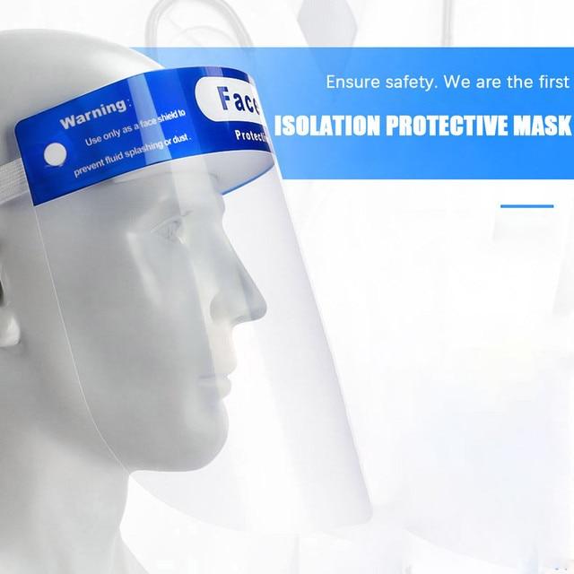 2PCS Unisex Anti Saliva Anti Splash Adjustable Outdoor Safe Protective Shield Cover Glasses Flip Up Visor Oil Protection 2