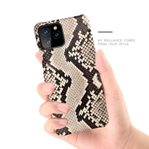 Image 2 - Luxury Genuine Python Leather Back Cover for iPhone 7 8 Plus X XR XS MAX Original Leather Case FHX BY for iPhone 11 11Pro MAX