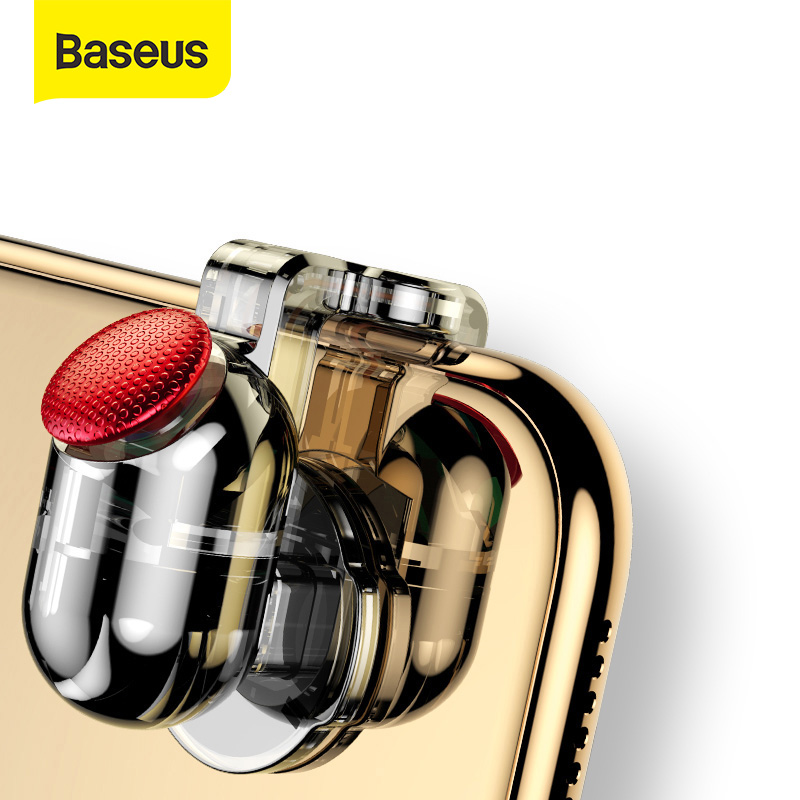 Baseus Game Pad Trigger Mobile Phone Games Shooter Controller L1 R1 Fire Button Handle For PUBG/Rules Of Survival/Knives Out