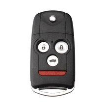 3+ 1 кнопки дистанционного флип-ключ для автомобиля Fob оболочки чехол для Honda Accord Acura TL TSX MDX RDX ZDX 2007 2008 2009 с Uncut Blade