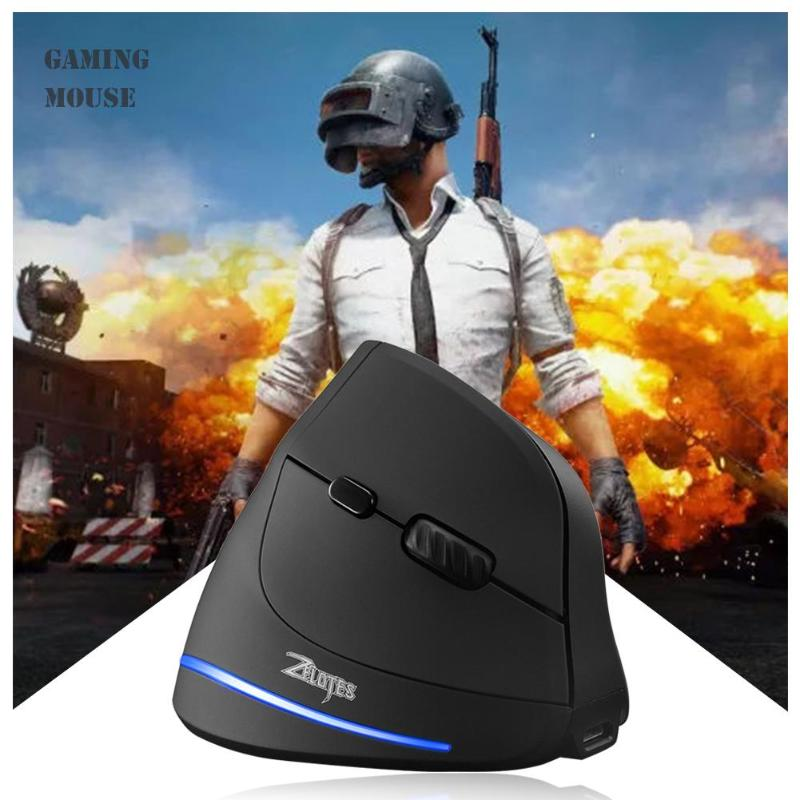 ZELOTES F-35 2.4GHz Vertical Wireless Mouse USB Rechargeable 2400DPI 6 Buttons Computer Gaming Mouse For PC Laptop Gamer Mice