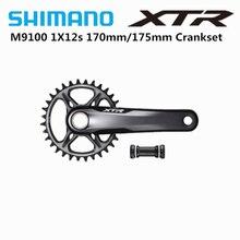 SHIMANO XTR M9100 170mm 175mm 32T 1x12 Geschwindigkeit Kurbel Für Mountainbike MTB 12 s BB93 Boden Halterung Pedivela Original Shimano