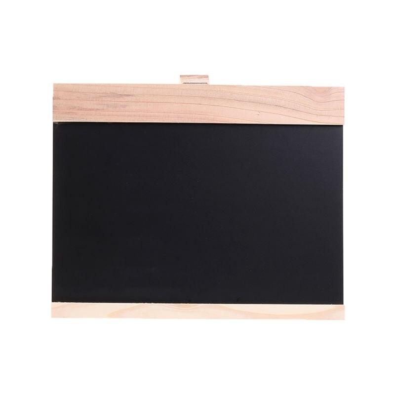 Desktop Message Blackboard Easel Chalkboard Kids Writing Advertising Board Bar XX9A