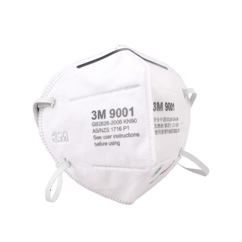 3M 9001 Face Mask Non-Powered Air-Purifying Anti-Particulate Matter N90 Anti-Industrial Dust Face Mask Anti-fog Haze Breathable