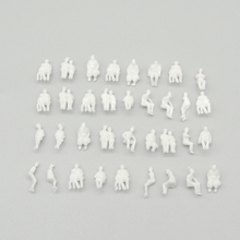 Teraysun all sitting 1/150 N Scale Model Figures Generic White Unpainted Train Pattern People