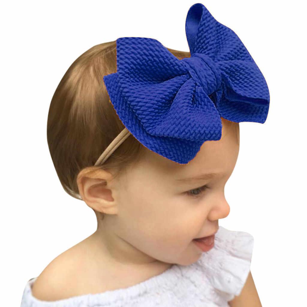 תינוק גדול אלסטי קשת קשר שיער כדור ססגוניות הדפסת סרט הילדה ילד אבזר ראש ללבוש שיער להקת ילד קריקטורה סיכות