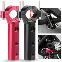 CNC Motorcycle Headlight mount Bracket Adjustable 20mm 35mm Bumper Mount Clamp led light bracket holder support de phare moto