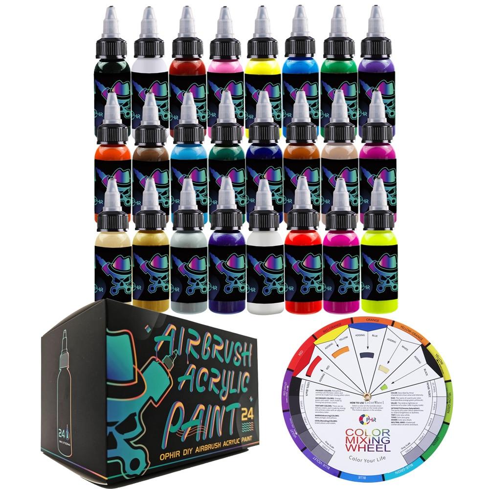 OPHIR Airbrush DIY Farbe Modell Acryl Farbe Airbrush DIY Acryl Pigment Tinte für Modell Schuhe Leder Malerei TA005