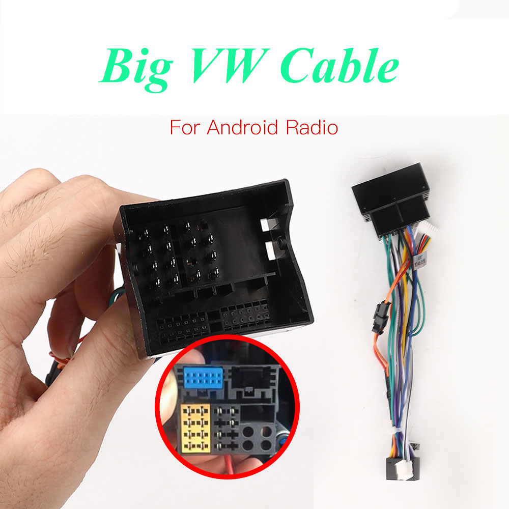 Android Radio Car Accessories Wire Wiring Harness Adapter Connector Plug 16Pin Universal Cable For Focus Kia Nissian Prado Car