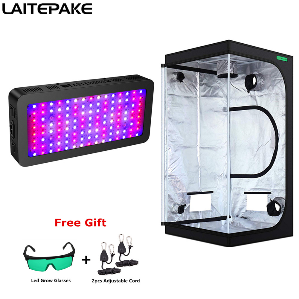 Grow Tent Room Complete Kit Full Spectrum LED Grow Light+Multiple Size Grow Tent Combo Hydroponic Grow System For Indoor Plants
