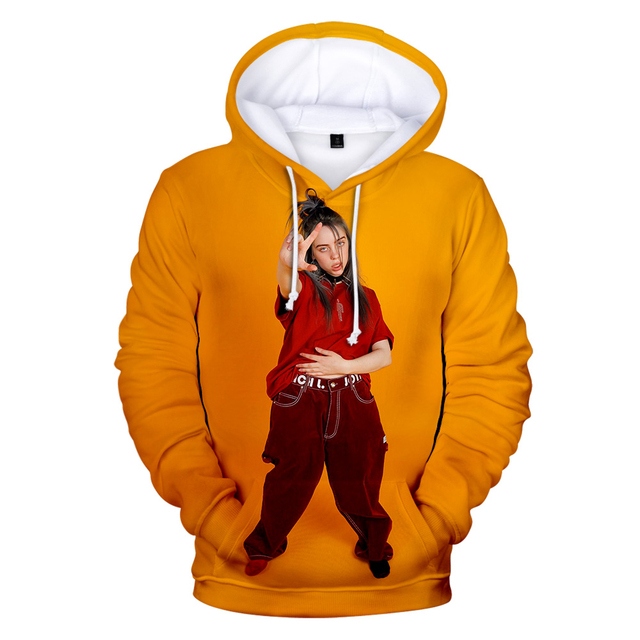 3D BILLIE EILISH THEMED HOODIE (10 VARIAN)
