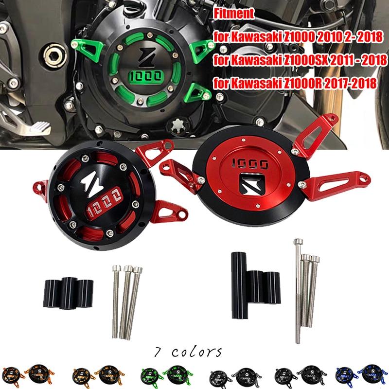 Z1000 Z1000SX Z1000R Motorcycle Engine Cover Stator Case Guard Crash Slider Protector for Kawasaki 2010-ON Z1000 Z1000sx Z1000R
