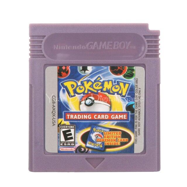 For Nintendo GBC Video Game Cartridge Console Card Poke Series Trading Card English Language Version
